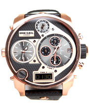 Diesel - Unisex Mr. Daddy Rose Gold / Black 57mm Face w/ Black Leather Strap Watch