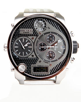 Diesel - Mr. Daddy Black 57mm Face w / Steel Plated Bracelet Link Watch