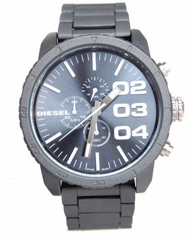 Diesel - Unisex Franchise 51mm Gun Metal Face w/ Link Band Watch