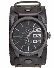 Diesel - Leather Cuff 51mm Face Watch