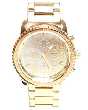 Diesel - Franchise 42mm Gold Mirror Face w/ Bracelet Link Watch