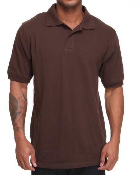 Basic Essentials Men Brown Pique Solid Polo