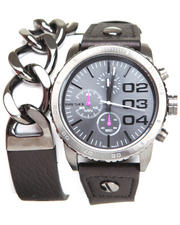 Watches - Franchise 42mm Face DBL Wrap w/ Chain Link Watch