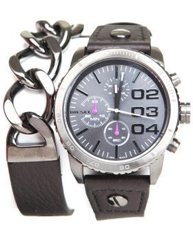 Diesel - Franchise 42mm Face DBL Wrap w/ Chain Link Watch