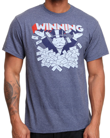 Graf-X Gallery - Men Blue Monopoly Winning Tee - $12.99