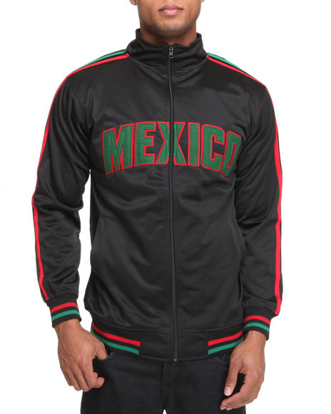 Basic Essentials Men Black Mexico Track Jacket