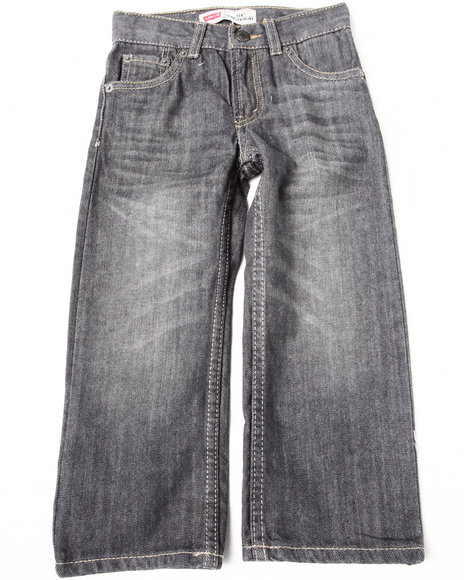 Levi's Boys Grey 514 Slim Straight Jeans (4-7X)