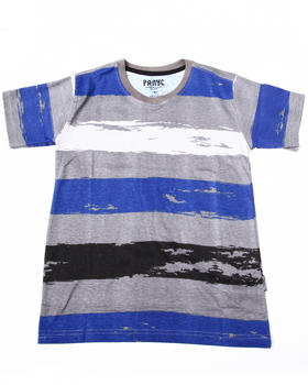 Arcade Styles - Striped V-neck Tee (8-20)