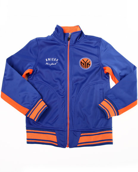 Nba Mlb Nfl Gear Boys Blue Knicks Tricot Track Jacket (8-20)
