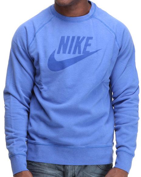Nike Men Blue Limitless Washed Crewneck Sweatshirt