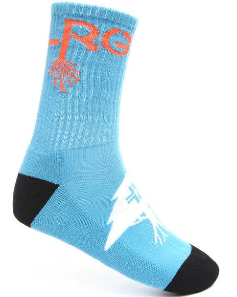 LRG Men Blue Old Tree Crew Socks