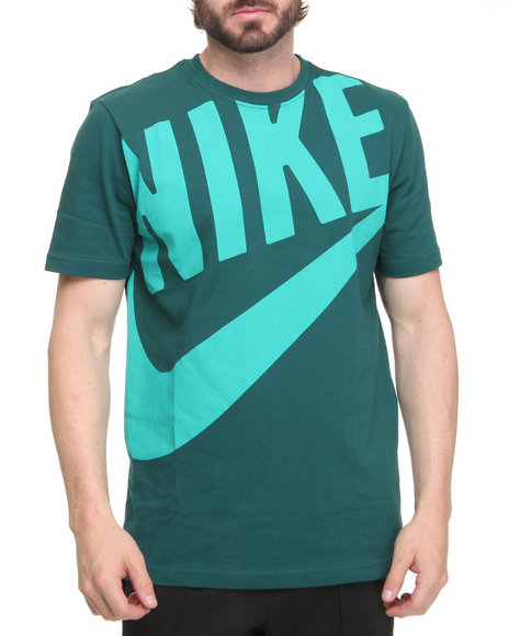 Nike Men Green,Teal Hbr Exploded Futura Tee