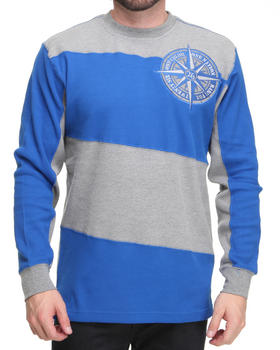 Basic Essentials - Long Sleeve Slant Stripe Thermal