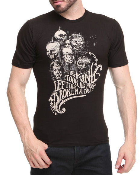 Basic Essentials Men Black Dead Head Tee