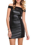Fashion Lab - Body con Vegan leather Dress