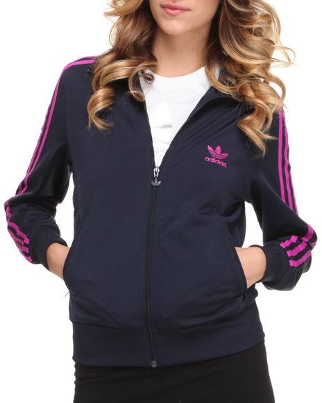 Adidas Women Navy Adi Firebird Track Jacket