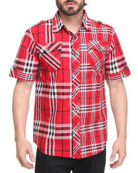 Basic Essentials - Short Sleeve Plaid Woven Shirt