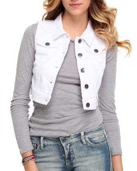 Basic Essentials - Crop Denim Vest