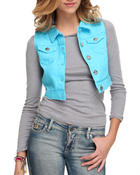 Outerwear - Crop Denim Vest