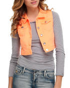 Women - Crop Denim Vest