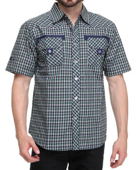 Basic Essentials - Checkers Short Sleeve Woven Shirt