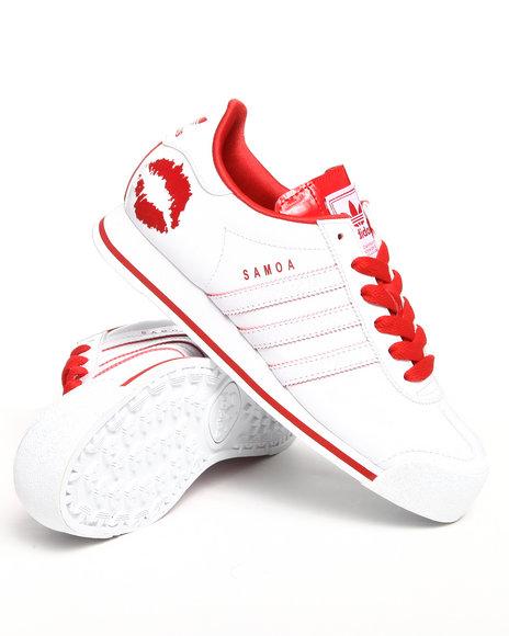 Adidas Women White Samoa W Valentine Sneakers