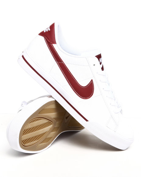 Nike Men White Sweet Classic Leather Sneakers