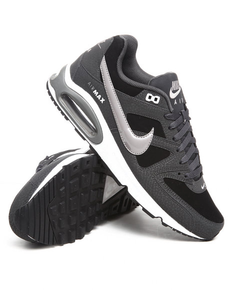Nike Men Black Air Max Command Leather Sneakers