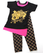 Girls - 2pc Logo Print Tunic with Legging