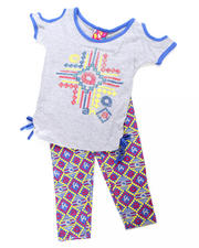 Girls - 2pc Tribal Print Tie Tunic with Legging