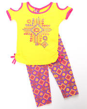 Infant - 2pc Tribal Print Tie Tunic with Legging