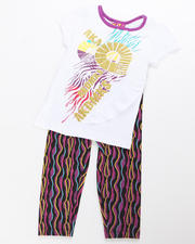2T-4T Toddlers - 2pc Tribal Print Tunic with Legging