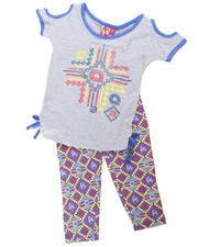 2T-4T Toddlers - 2pc Tribal Print Tie Tunic with Legging