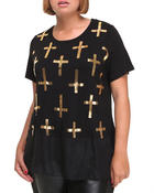 Fashion Lab - All over printed cross top (plus)