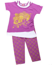 2T-4T Toddlers - 2pc Logo Print Tunic with Legging