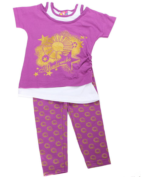 - 2pc Logo Print Tunic with Legging