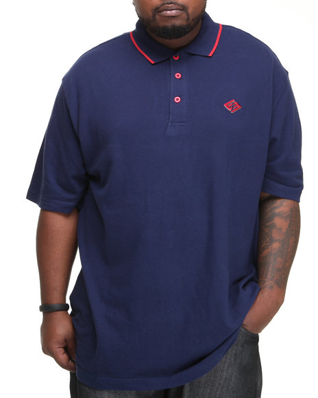 Enyce Men Blue New Reprisal Short Sleeve Polo (B&T)