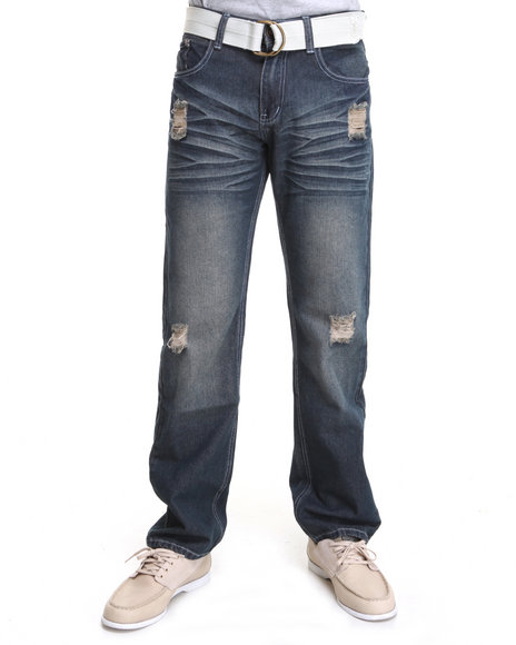 brut denim jeans with belt