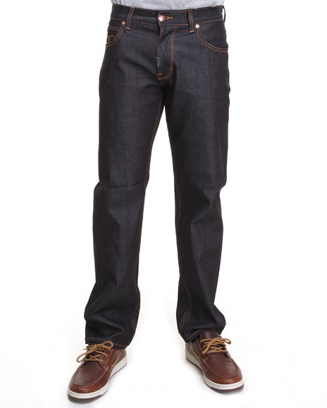 LRG - Men Raw Wash Core Collection True-Straight Denim Jeans
