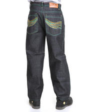 Jeans & Pants - Raw Denim w/ Embroidered Pockets