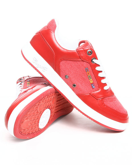 COOGI Men Red Knockout Lowtop Sneaker