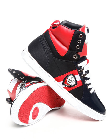 Coogi Men Red,Navy Ryan High Sneaker