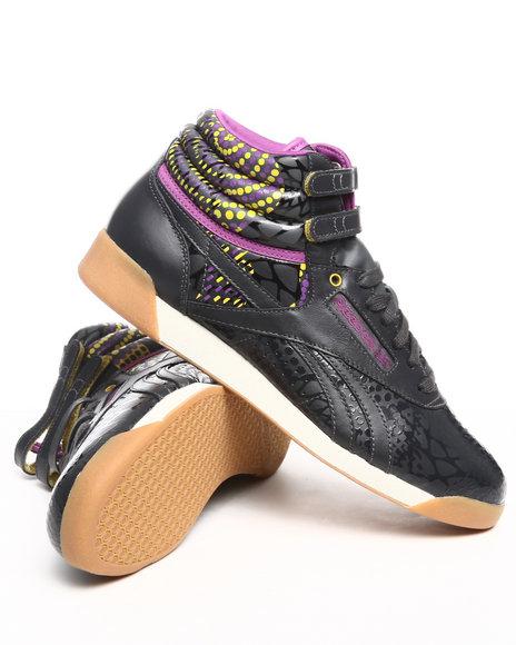 Reebok Women Black,Multi Freestyle Hi Alicia Keys Sneakers