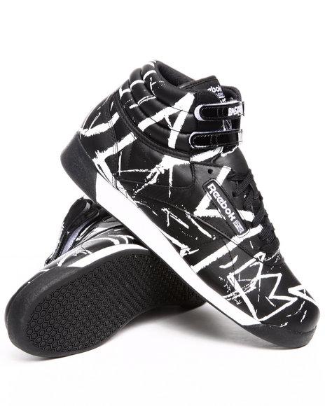 Reebok Women Black Basquiat Freestyle Hi Sneakers