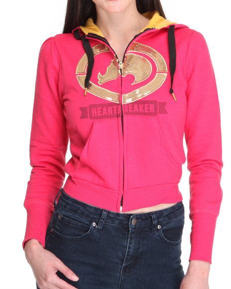 Ecko Red Women Pink Sequins Hoodie