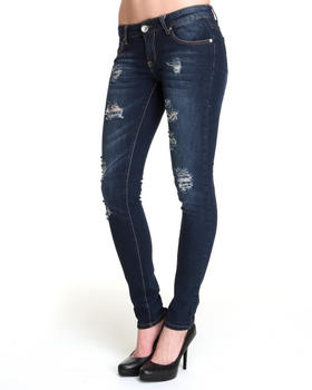 Basic Essentials - Melissa Skinny Jean Pants w/rips