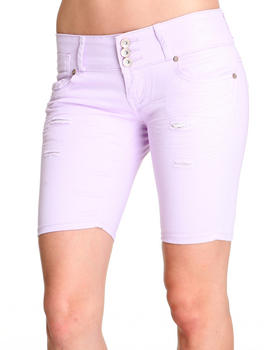 Basic Essentials - 3 Button Bermuda Jean Short
