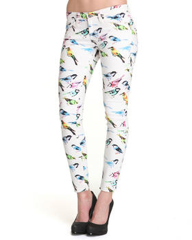 Big Star - Remy Low Rise Skinny Bird Print Denim