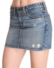 Women - Courtney Distressed Denim Mini Skirt