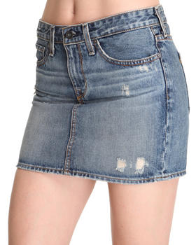 Big Star - Courtney Distressed Denim Mini Skirt